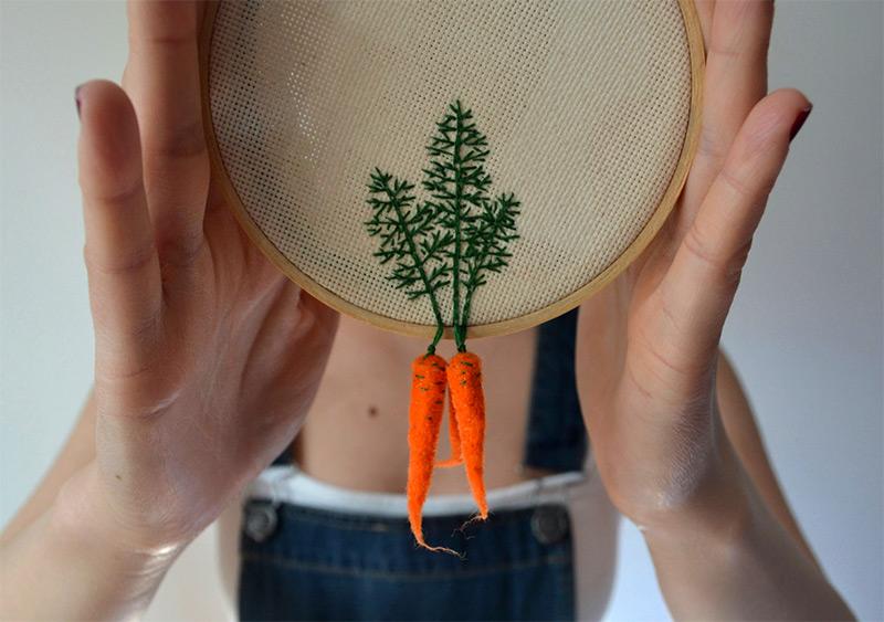 carotte broderie