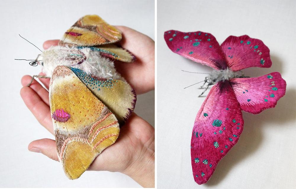 papillons en broderie Yumi Okita