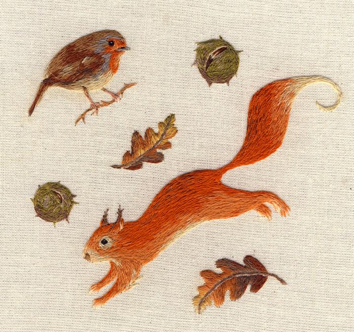 Les minuscules animaux brodés de Chloe Giordano