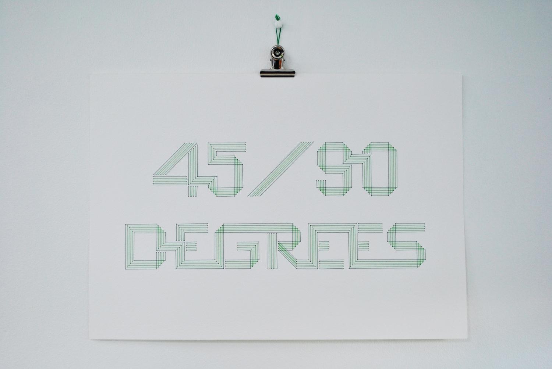 45-90 degré broderie sur papier carton épais